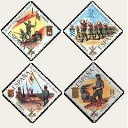 1971 España. Aniversario de la Legión. Edif.2043/2046 **