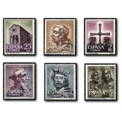 1961 Sellos de España (1394/99). XII Aniv. de la Fundación de Oviedo.
