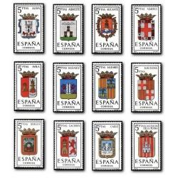 1962 Sellos de España (1406/17). Escudos de las Capitales de Provincia.