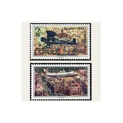 1971 España. Aniver. Correo Aéreo. Edif.2059/60 **
