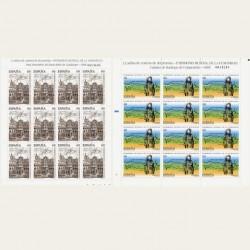 1995 Sellos de España (MP-48/49). Patrim. Mundial de la Humanidad. Minipliego.