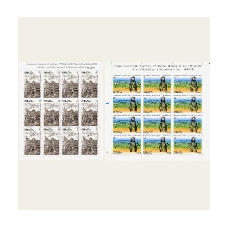 1995 España. Patrim. Mundial de la Humanidad. Minipliegos. (Edif. MP-48/49)