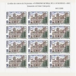 1993 Sellos de España (MP-46). Patrim. Mundial de la Humanidad. Minipliegos.