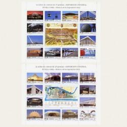 1992 España. Exp. Universal de Sevilla. Minipliegos. (Edif. MP-42A/B)**