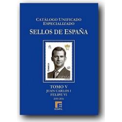 Catálogo de Sellos Edifil España Especializado Tomo V 2001/2016