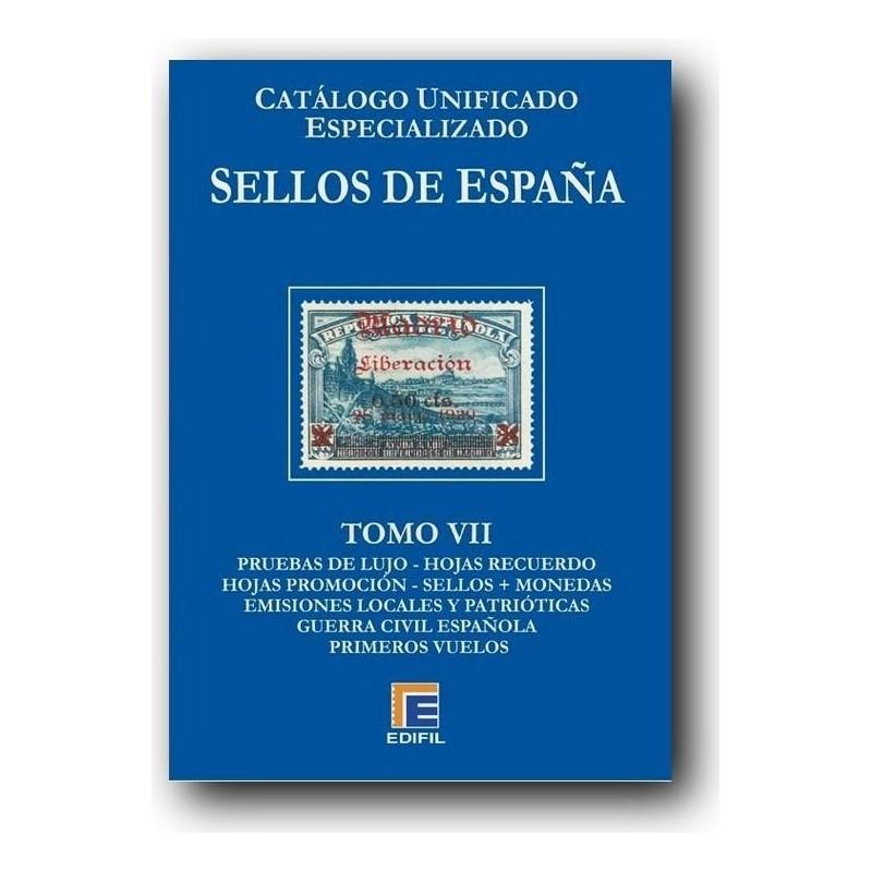 Catálogo de Sellos Edifil España Especializado Tomo VII Patrióticos-Guerra Civil