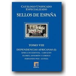 Catálogo de Sellos Edifil España Especializado Tomo VIII Dependencias Africa