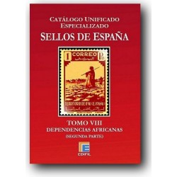 Catálogo de Sellos Edifil España Especializado Tomo VIII Dependencias Africa II Edic. 2013