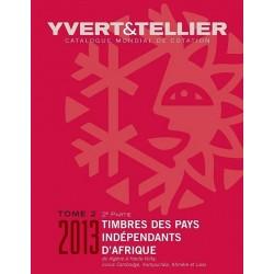 Catálogo de Sellos Yvert et Tellier P. Independientes de África 2ª parte 2013 de la A a H