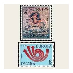 1973 Sellos de España (2125/26). Europa CEPT.