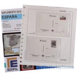 Suplemento Edifil Tarjetas Entero Postales España 2018