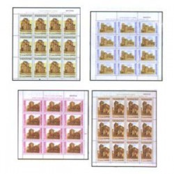 1990 España. Patrimonio de la Humanidad. Minipliegos. Edif.20/23