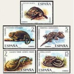 1974 Sellos de España (2192/96). Fauna.