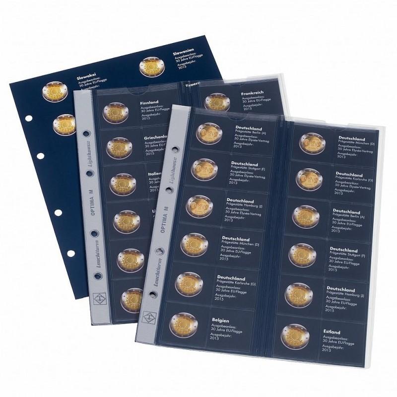 Hojas Optima para Monedas conmemorativas 2 euros Emisiones Conjuntas