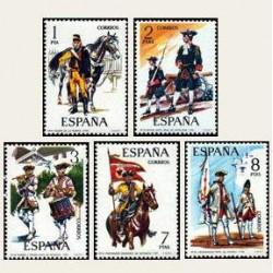 1974 Sellos de España (2197/01). Uniformes Militares.