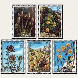 1974 Sellos de España (2220/24). Flora.