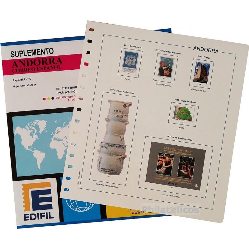 Suplemento Anual Edifil Andorra (Español) 2016