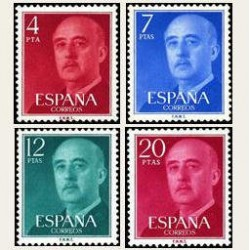 1974 Sellos de España (2225/28). General Franco.