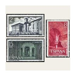 1974 Sellos de España (2229/31). Monasterio de Leyre.
