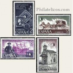 1975 España. 125 Aniv. del Primer Sello Español. Edif.2232/35 **