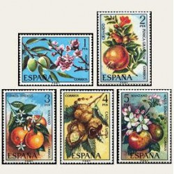 1975 Sellos de España (2254/58). Flora.