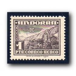 1948-53 Sellos de Andorra (correo español 59). Paisaje**.