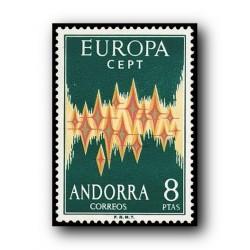 1972 Sellos de Andorra (correo español 72). Europa**.