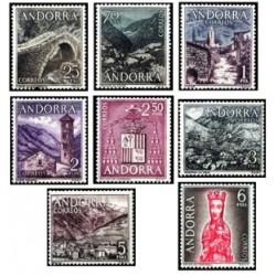 1963-64 Sellos de Andorra (Correo Español). Año Completo **