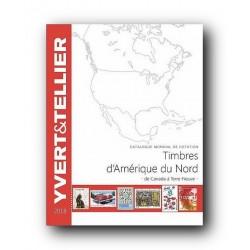 Catálogo de Sellos Yvert et Tellier América del Norte 2018