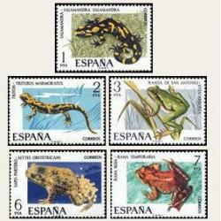 1975 Sellos de España (2272/76). Fauna.