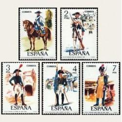 1975 España. Uniformes Militares. Edif.2277/81 **
