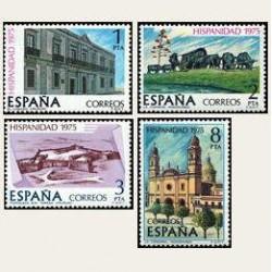 1975 Sellos de España (2293/96). Hispanidad - Uruguay.