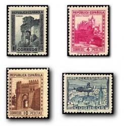 1938 Sellos de España. Monumentos y Autogiro. (770/772A)
