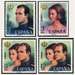 1975 Sellos de España (2302/05). SS.MM. D. Juan Carlos y Dña. Sofía.