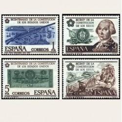 1976 España. Independencia de Estados Unidos (Edif.2322/25) **