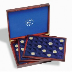 Estuche Leuchtturm VOLTERRA TRIO DE LUXE para monedas de 2 euros en cápsulas