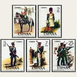 1976 España. Uniformes Militares (Edif. 2350/54) **