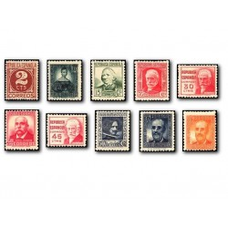 1936-38 España. Cifra y Personajes. Edif.731/740 **