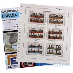 Suplemento Anual Edifil España 2018 Bloque de Cuatro
