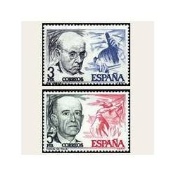 1976 España. Pau Casals y Manuel de Falla. (Edif. 2379/80) **