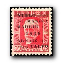 1936 Sellos de España 741. Vuelo Manila-Madrid. **