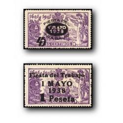 1938 Sellos de España. 761/762 **. Fiesta del Trabajo.