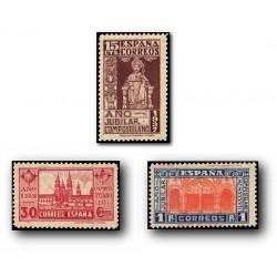 1937 Sellos de España (833/35). Año Jubilar Compostelano.**
