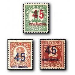 1938 Sellos de España 742/744. Cifras (habilitados) **