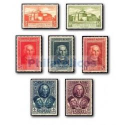 1930 Sellos de España 559/565 **. Descubrimiento de América.