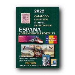 Catálogo de Sellos Edifil España 2022 con Depend. Postales