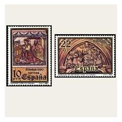 1980 España. Navidad. (Edif.2593/94) **