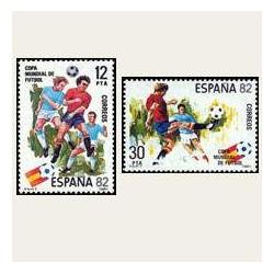 1981 España. Copa Mundial de Fútbol España'82. (Edif.2613/14) **