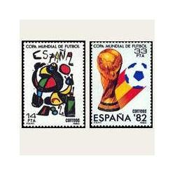1982 España. Copa Mundial de Fútbol España'82. (Edif.2644/45) **