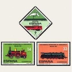 1982 España. Congreso de Ferrocarriles (Edif.2670/72) **